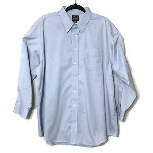 Jos A Bank Travelers Collection Blue Dress Shirt